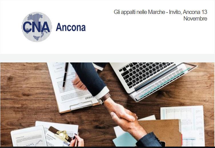 Gli appalti nelle Marche – lavori, servizi e forniture. Il Consorzio partecipa all'incontro pubblico organizzato da Cna ad Ancona il 13 novembre