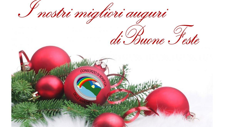 Il Consorzio di Bonifica augura a tutti Buone Feste! Gli uffici resteranno chiusi dal 24 dicembre al 1 gennaio