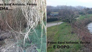 Lavori al fosso Sant'Antonio a Fermo: spariscono rovi e canne, rinforzati gli argini