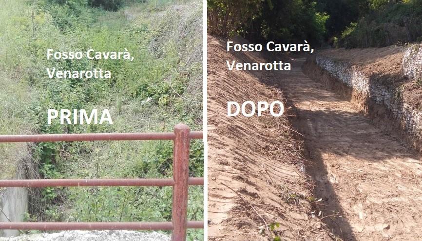 A Venarotta è rinato il fosso Cavarà