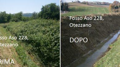 Ripulito il fosso Aso 228 a Ortezzano