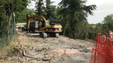 Già partiti i lavori di sistemazione della SP 128 che collega Monte Grimano a Montelicciano.