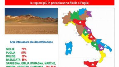 Il CNR: il Centro Sud Italia è a rischio desertificazione. Nelle Marche in pericolo dal 30% al 50% dei suoli disponibili.
