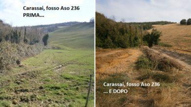 Lavori di manutenzione a Carassai, sistemato il fosso Aso 236