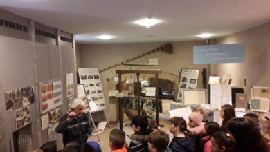 Studenti in visita al Museo della Mezzadria nell'antico Mulino di Pontevecchio a Vallefoglia (PU)