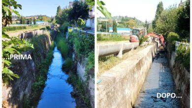 Monsampolo, ripulito canale in zona ex stazione
