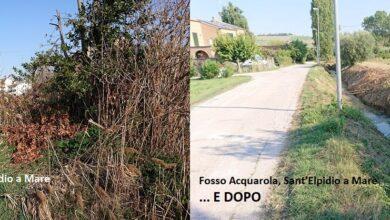 Sant'Elpidio a Mare, pulizia e rinforzo degli argini del fosso Acquarola