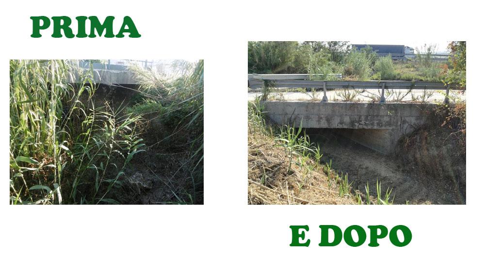 Ripristinata la funzionalità idraulica di un tratto del fosso Rio di Marsigliano, nel comune di Fano.