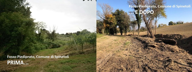 Completata la pulizia del fosso Piediprato a Spinetoli