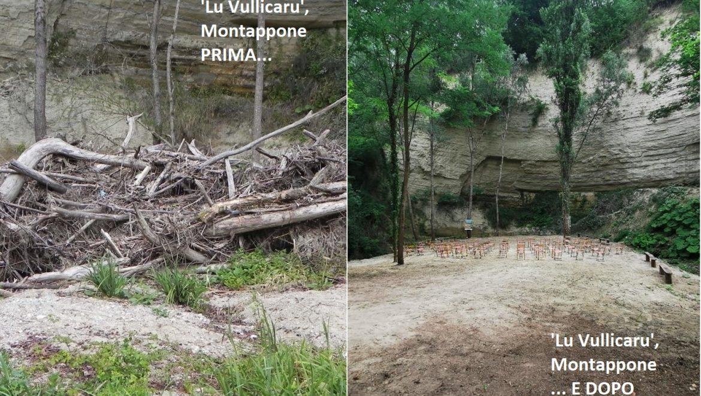 A Montappone la pulizia di un fosso diventa anche recupero di un'area per la comunità