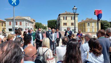 Inaugurato il nuovo Ponte angeli dell'8 dicembre 2018 a Senigallia. Intitolato alle giovani vittime della Lanterna Azzurra